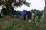 Hedge planting on the playing field 2013